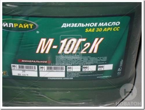 Масло м10г2к: технические характеристики