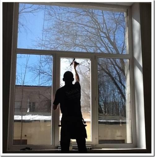 Как тонировать пластиковые окна?