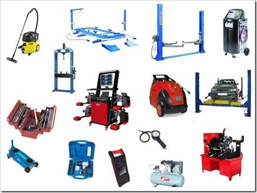 Виды необходимого оборудования и инструментов для СТО