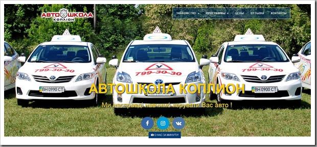 """Обзор услуг обучения вождению в Одессе в автошколе """"Коплион"""""""