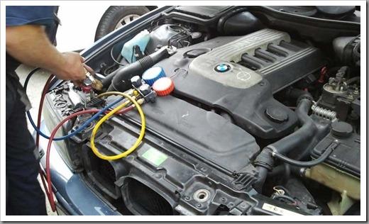 Как делается заправка кондиционера автомобиля