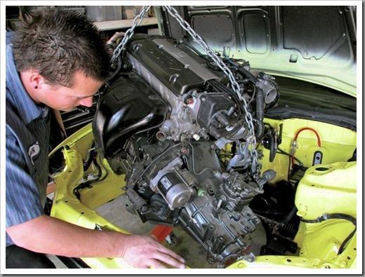 Технология замены двигателя на авто