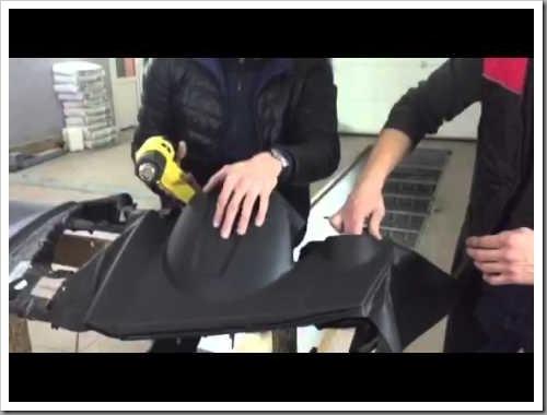 Как делается перетяжка торпеды термовинилом и чем хорош этот материал