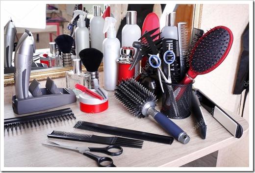 Какие есть виды парикмахерских принадлежностей и инструментов?